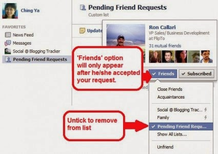 Track your Friend Request