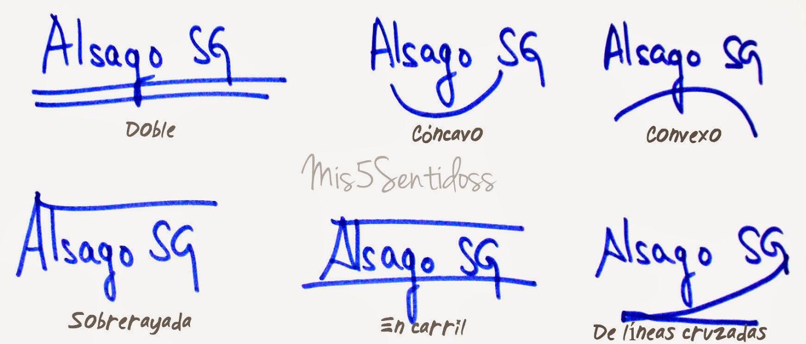 Grafología Rúbricas según el tipo de subrayado