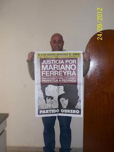 ADRIÁN GELOSI, REPORTERO GRÁFICO, TAMBIÉN PIDE JUSTICIA POR MARIANO