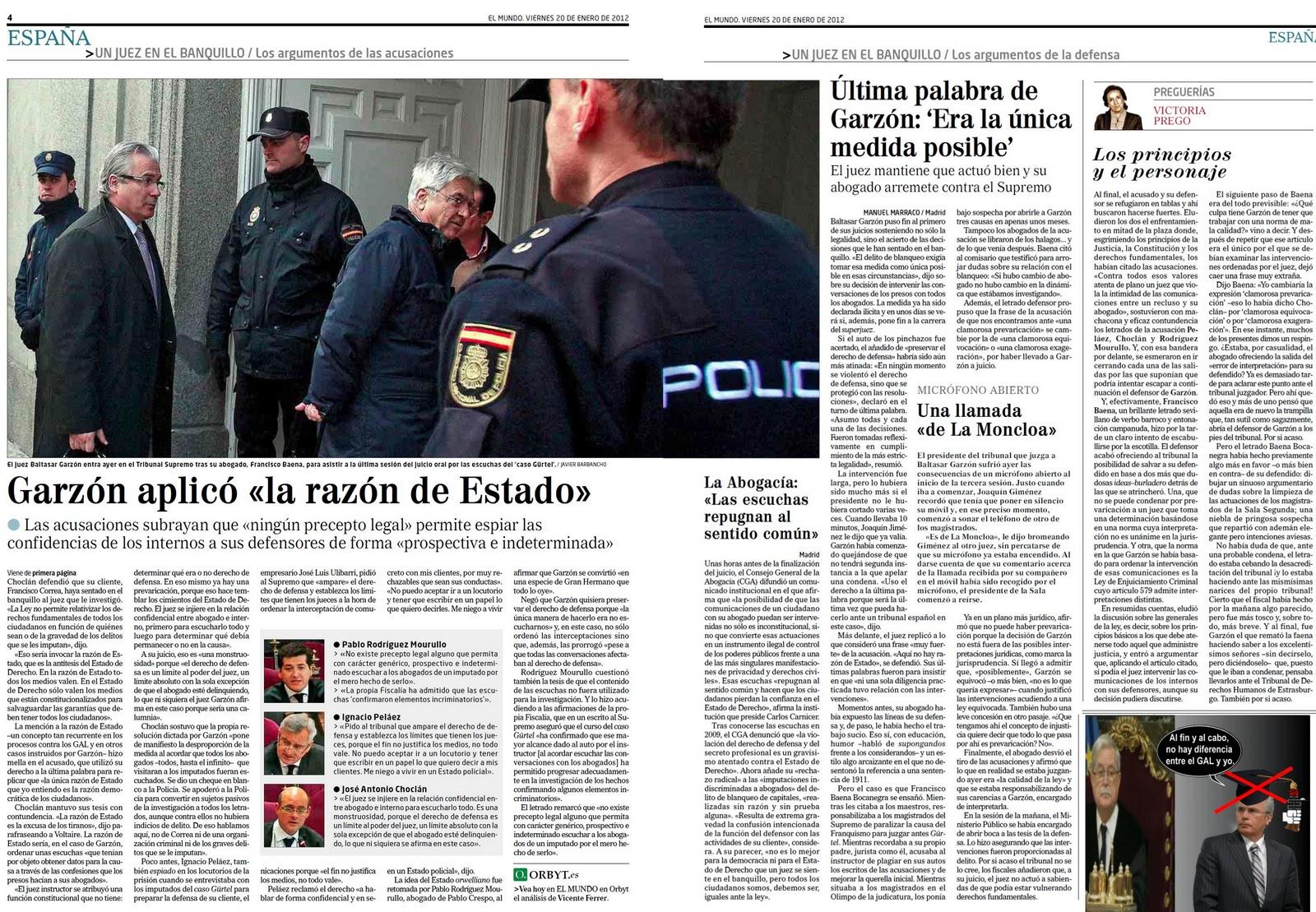 Garzón se equipara a los crímenes de Estado de los GAL