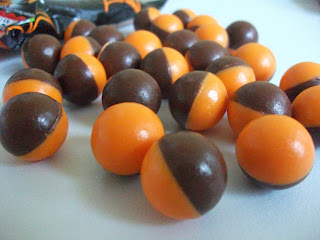 halloween themed orange bubbly chocolates