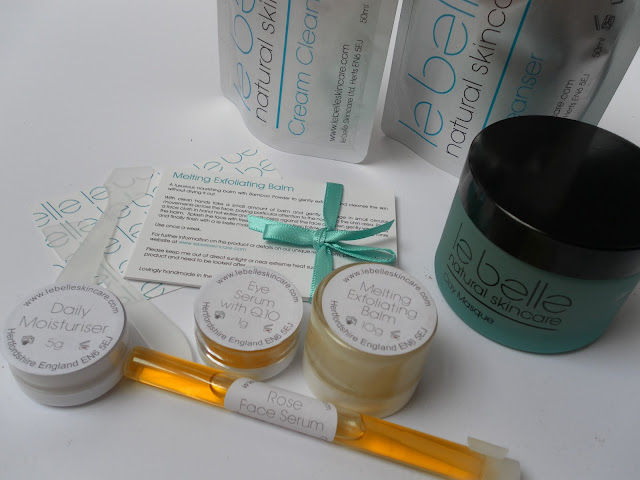 A picture of Le Belle Natural Skincare products