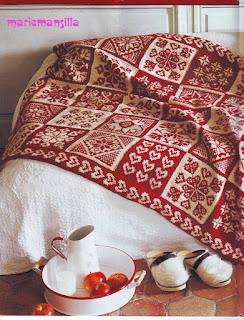 Almohadones y mantas tejidos N°6