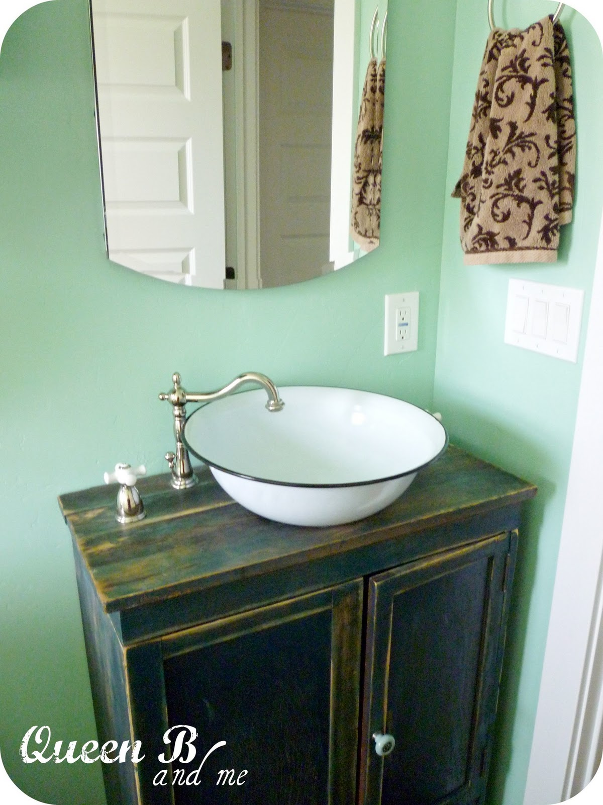 ... bowl into a sink! Bathroom Pinterest Sinks, Vessel Sink and DIY