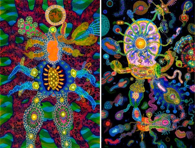 Art of Psychedelic Paint and Poured Resin by Bruce Riley3