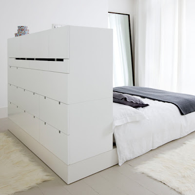 Storage Ideas For Small Bedrooms. Turn a headboard into storage