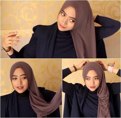 Tutorial Hijab Pashmina Mudah dan Simpel by Natasha Farani