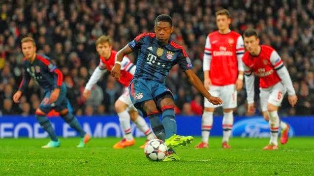 Arsenal vs Bayern Munchen 0-2 Champions League