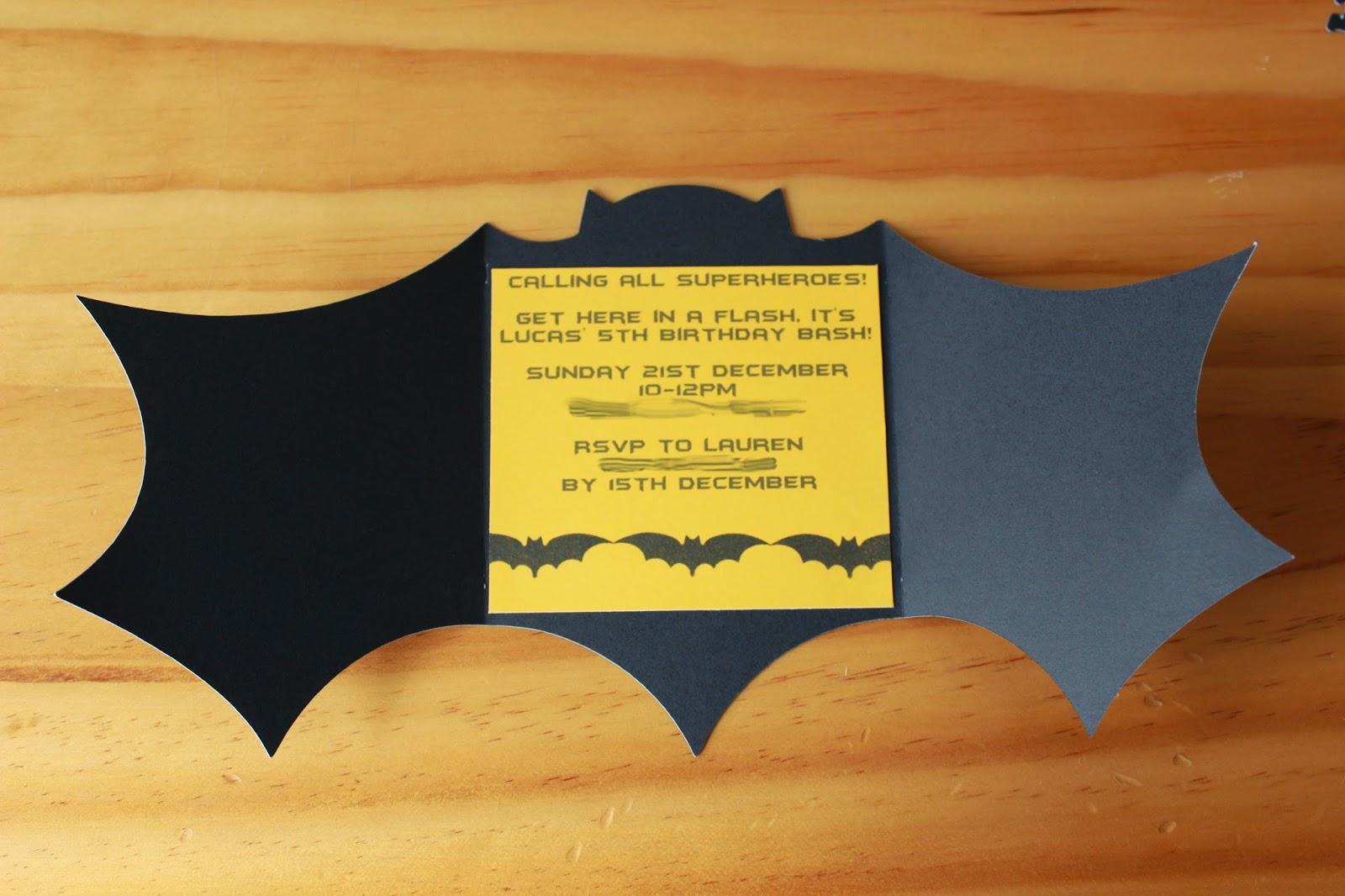 SAHM I am- Stay At Home Mum: Batman Birthday Invitations
