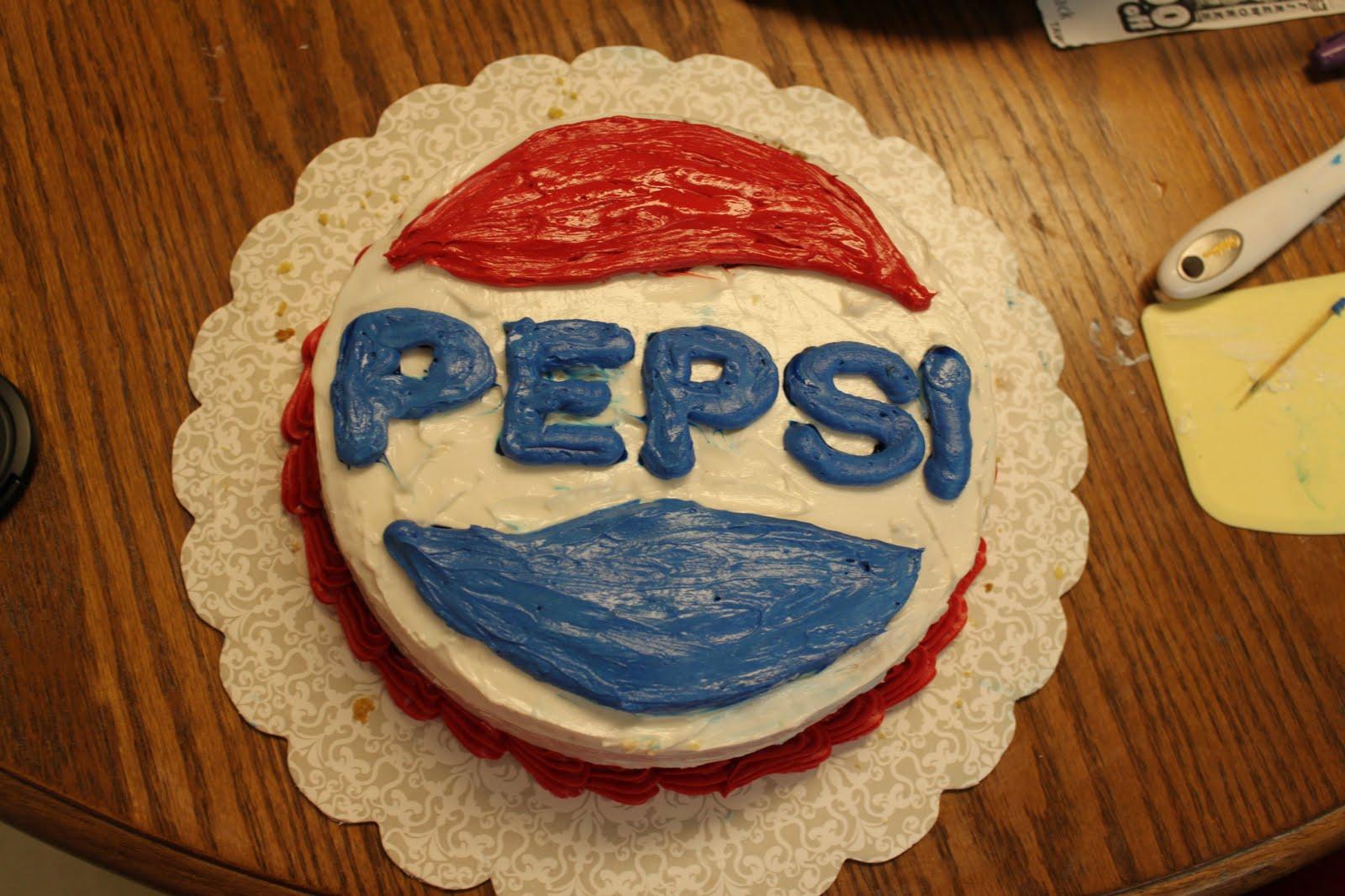 Vanessa S Cake Designs 8 One Layer Pepsi Cake