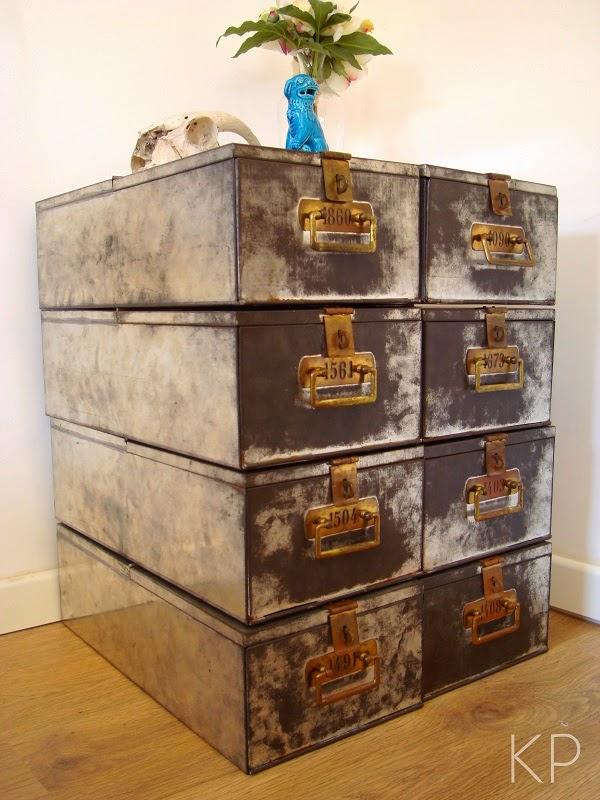 Cajas de seguridad de banco antiguas