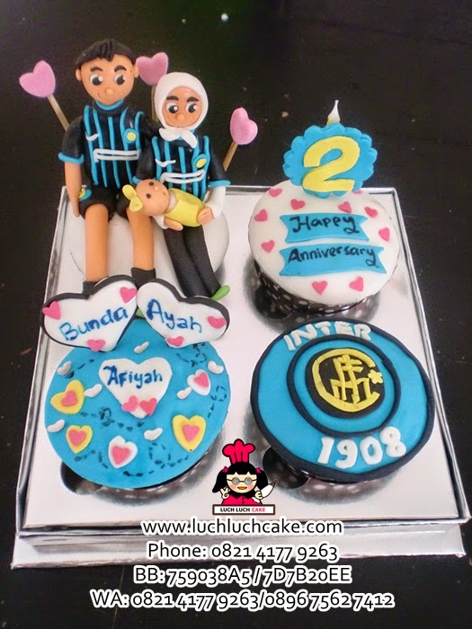 Cupcake Intermilan Anniversary Daerah Surabaya - Sidoarjo