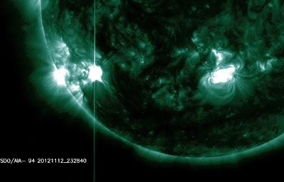 Llamarada solar clase M2.0, a 23:28 UTC el 12 de noviembre 2012