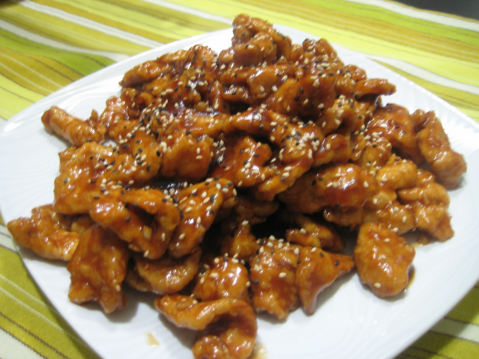 Canadian Cook with Spanish Flavor: Got some General Tao Chicken?