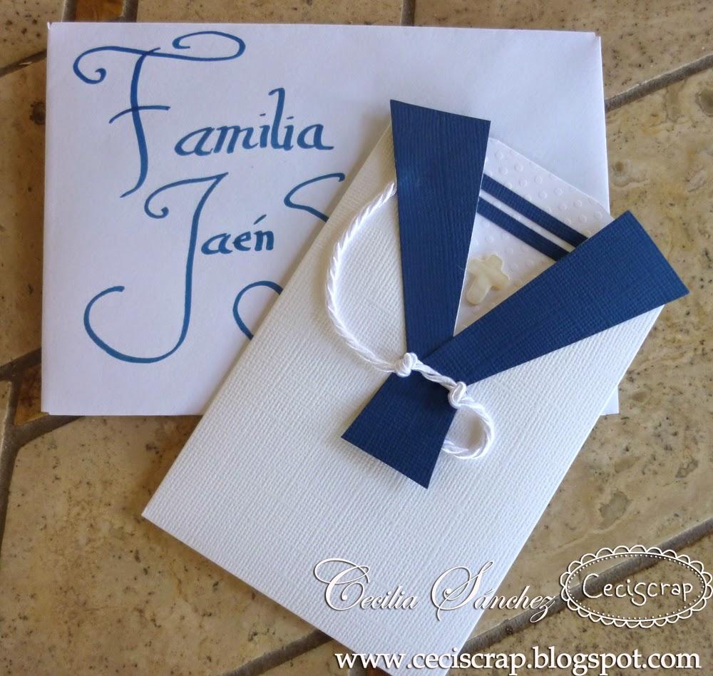 Ceci scrap scrapbooking en espa a invitaciones de comunion - Como hacer tarjetas de comunion ...