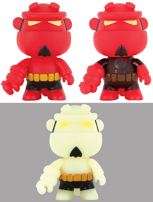 "Hellboy 5"" Mini Qee Vinyl Figures by Toy2R - Original, B.P.R.D. Edition & Glow in the Dark"