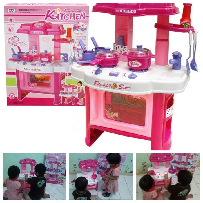 Kitchen Set With Light And Sound: Little Muna's Playhouse: KItchen Set Toy With Light And Sound