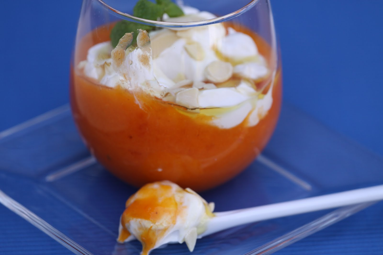 Fresh Persimmon Dessert--Light, Easy, and Healthy
