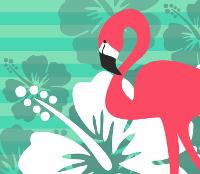 Flamingo Breeze | Mein Stoffdesign zur Summertime Stoffparade von Stoff-Schmie.de