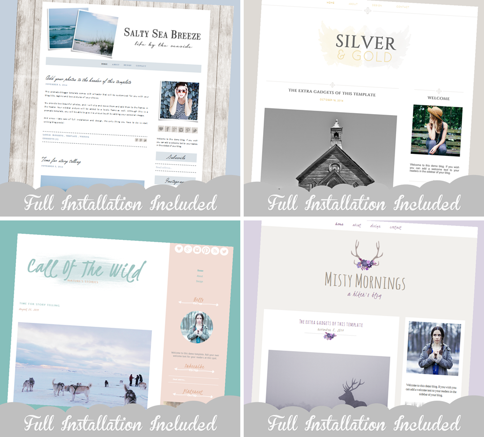 Premade Blogger Templates & Full Installation | The Dutch Lady Designs