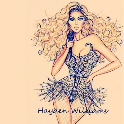 beyonce illustration drawing hayden williams