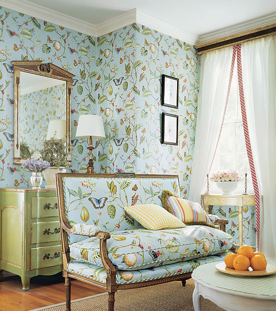 Thibaut Fabrics And Wallpapers: Peonies And Paint: Beautiful Butterfly Bounty: Thibaut And