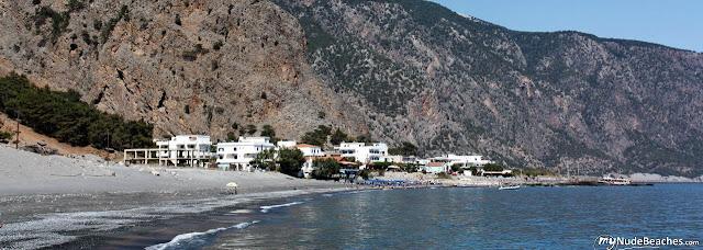 Nude beach Agia Roumelli (Crete, Greece)
