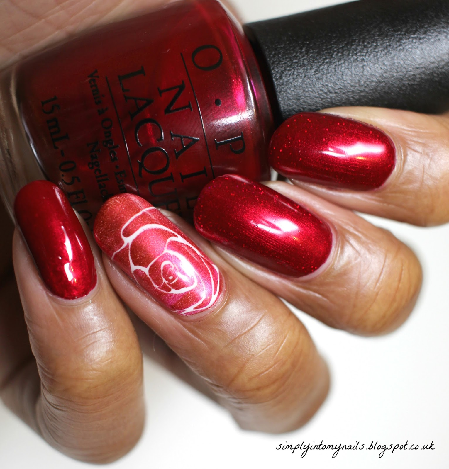 Romantic Red Rose Valentines Day Manicure Simply Into My Nails