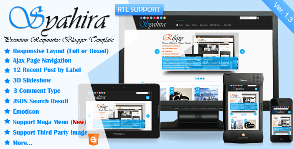 Syahira - Responsive Blogger Template Free Download