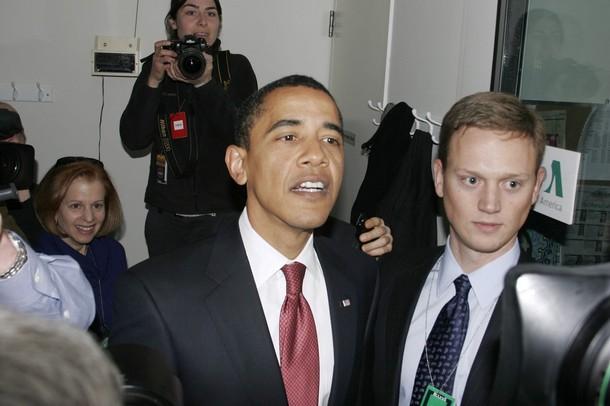 Barack Obama et Tommy Vietor