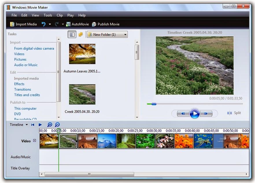 تحميل برنامج ويندوز موفى ميكر 2015 windows movie maker ويندوز 7 رابط مباشر