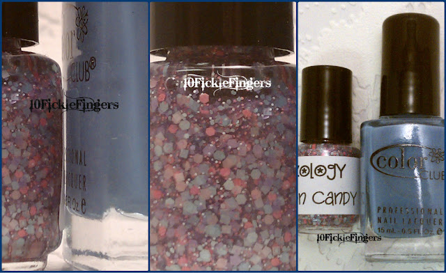 Glitzology Cotton Candy & Color Club Hydrangea Kiss swatches and review