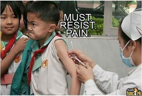 Menahan Sakit!