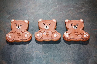 3 teddy bear cookies