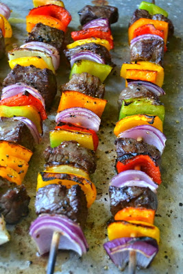 Steak Fajita with Cilantro Pesto Kabobs