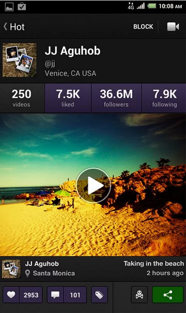 Viddy--Android video editing app