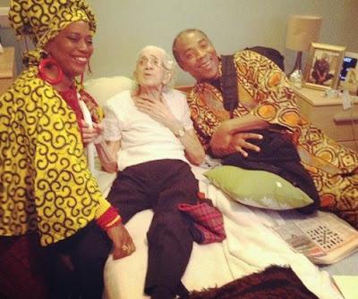 Femi Anikulapo-Kuti & her sister Yeni celebrates their Granny @ 93