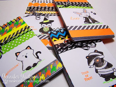 Neon Halloween Notebooks using Boo Crew by Newton's Nook Designs