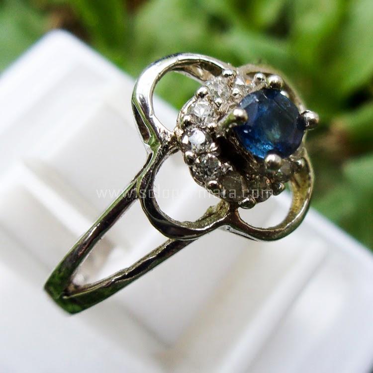 Cincin Batu Permata Blue Sapphire Ceylon - SP495