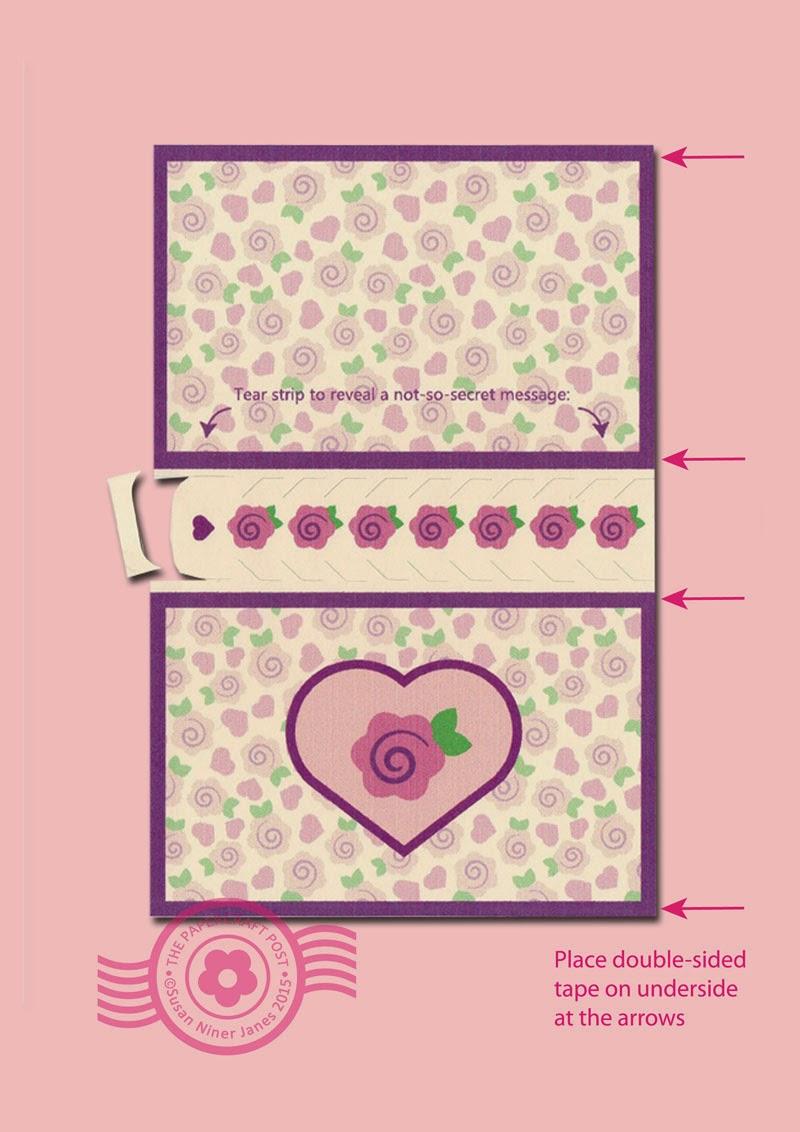 The Papercraft Post Secret Message Valentine
