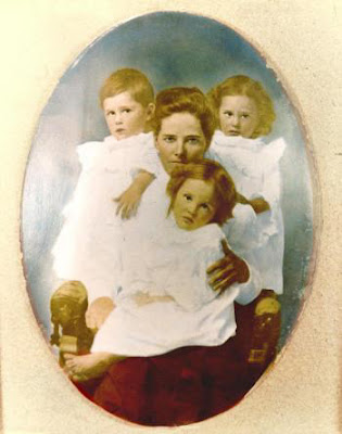 Fannie Crawford Mowbray and her triplets