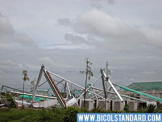 P107.1 M  Ad Congress building levelled  to the ground Photo by Oscar Esmenda/BICOLSTANDARD.COM