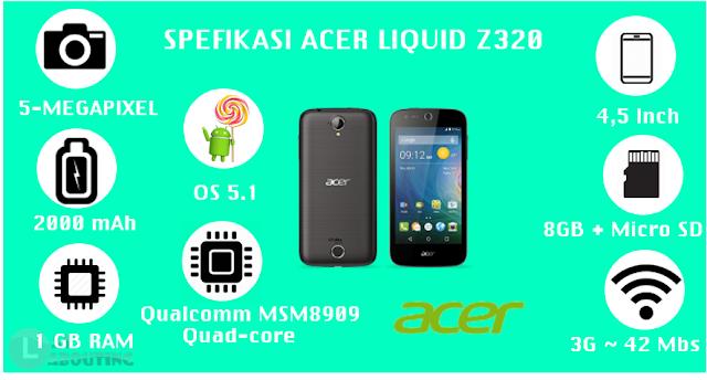 Spesifikasi Lengkap Acer Liquid Z320