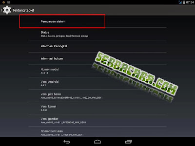 Cara Update OS Android