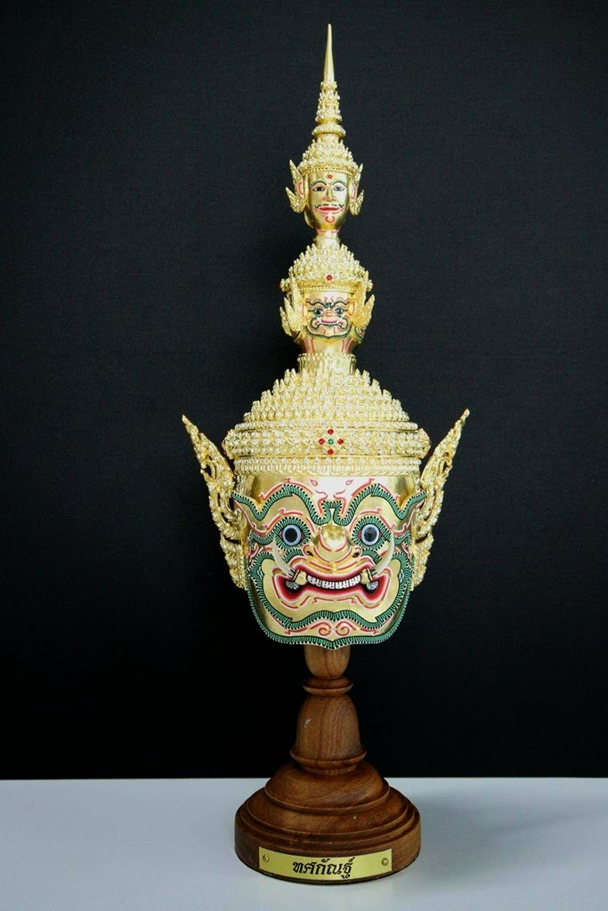 Khon mask depicting the King of Lanka