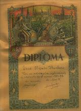 Diploma alumno ejemplar de José Olmedo Barbero Curso 1951/52