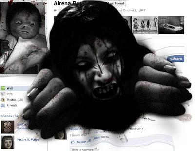 facebook horror profile prank