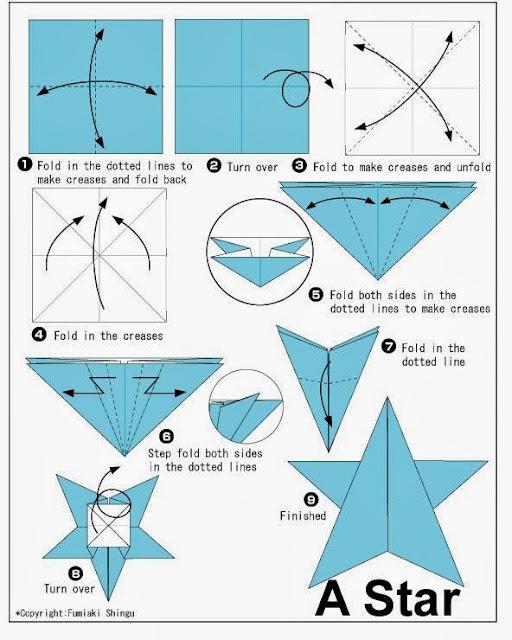 Estrella de navidad en origami papiroflex a para ni os - Origami de una estrella ...