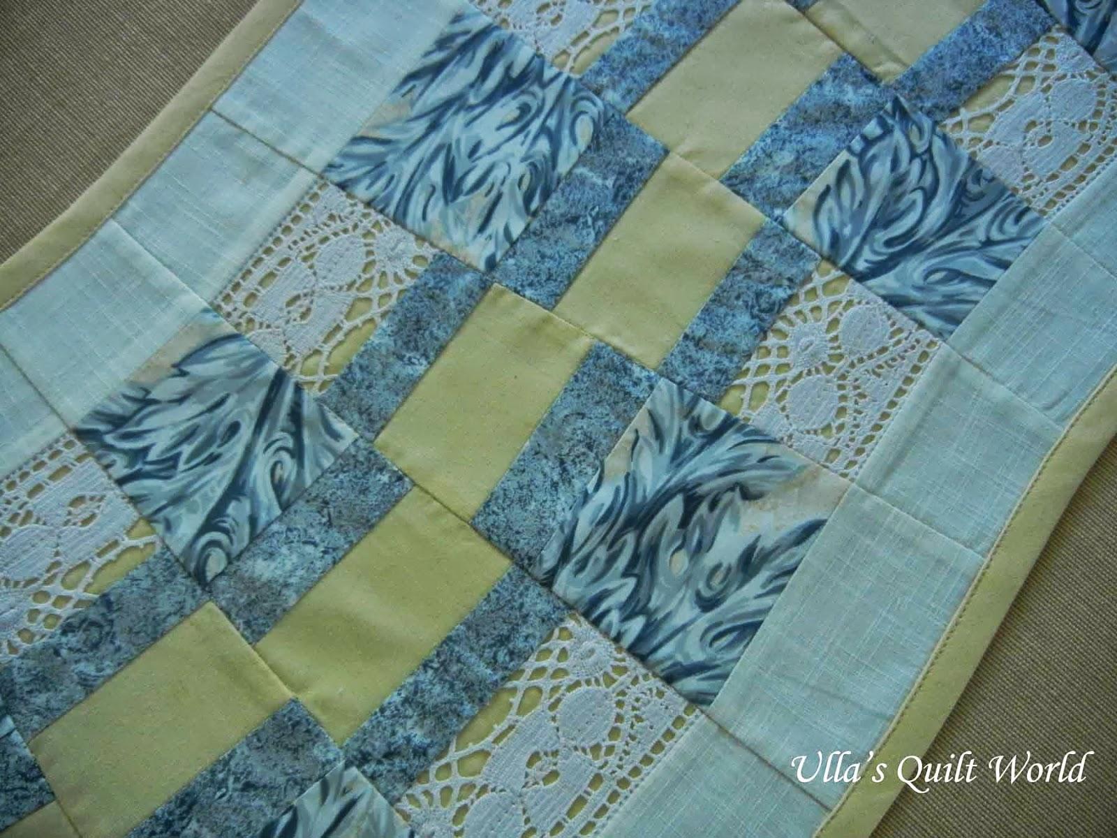 Ulla 39 s quilt world table runner quilt kiemuraliina for Table runner quilt design