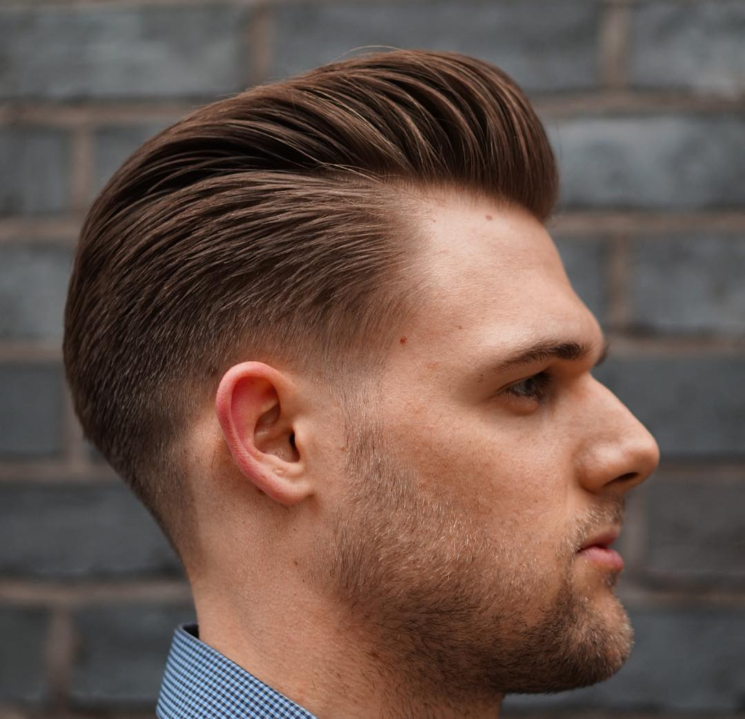 Как сделать мужскую причёску назад